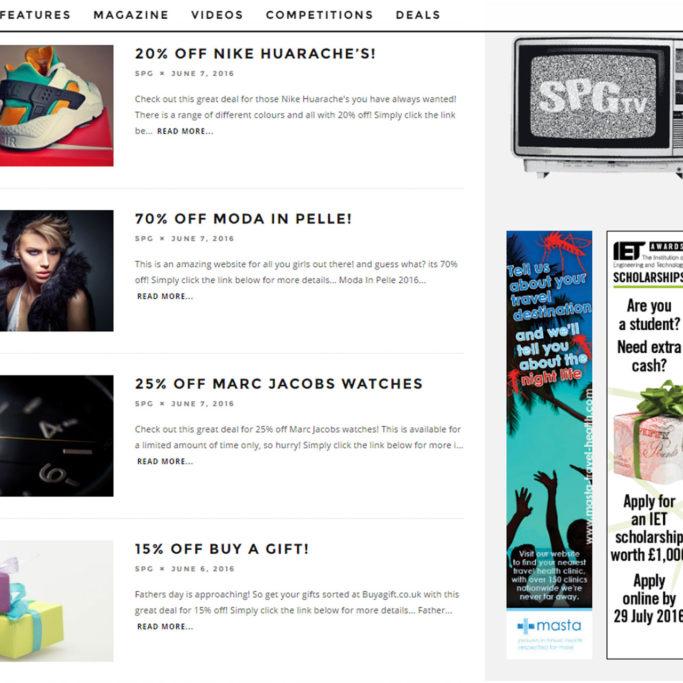 Blogging WordPress Website